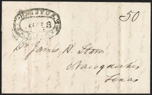 Sale Number 1230, Lot Number 1111, The Sandford N. Arnold Collection of Early Texas Postal HistoryHOUSTON *** TEXAS *** Sep. 28 (1840), HOUSTON *** TEXAS *** Sep. 28 (1840)