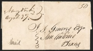 Sale Number 1230, Lot Number 1113, The Sandford N. Arnold Collection of Early Texas Postal History,