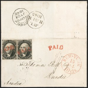 Sale Number 1230, Lot Number 1117, Postmasters' ProvisionalsNew York N.Y., 5c Black, Without Signature (9X1e), New York N.Y., 5c Black, Without Signature (9X1e)