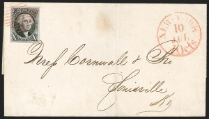 Sale Number 1230, Lot Number 1124, 1847 Issue Covers10c Black (2), 10c Black (2)
