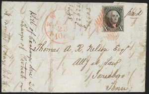 Sale Number 1230, Lot Number 1125, 1847 Issue Covers10c Black (2), 10c Black (2)