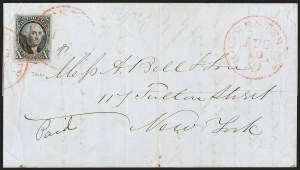 Sale Number 1230, Lot Number 1186, 1847 Issue Covers10c Black (2), 10c Black (2)