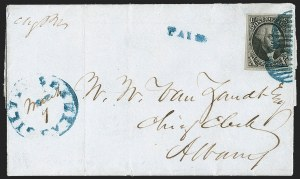 Sale Number 1230, Lot Number 1187, 1847 Issue Covers10c Black (2), 10c Black (2)