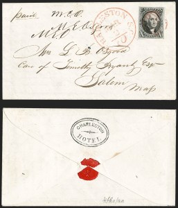Sale Number 1230, Lot Number 1188, 1847 Issue Covers10c Black (2), 10c Black (2)
