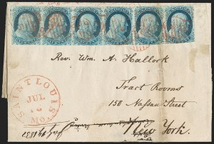 Sale Number 1230, Lot Number 1211, 1851-56 and 1857-60 Issues Covers1c Blue, Ty. II (7), 1c Blue, Ty. II (7)