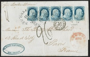 Sale Number 1230, Lot Number 1212, 1851-56 and 1857-60 Issues Covers1c Blue, Type II (7), 1c Blue, Type II (7)