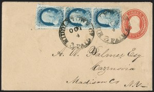 Sale Number 1230, Lot Number 1214, 1851-56 and 1857-60 Issues Covers1c Blue, Ty. IV (9), 1c Blue, Ty. IV (9)