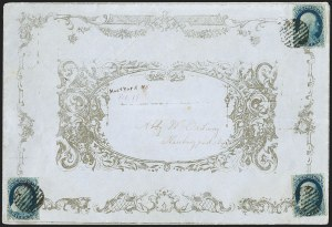 Sale Number 1230, Lot Number 1215, 1851-56 and 1857-60 Issues Covers1c Blue, Ty. IV (9), 1c Blue, Ty. IV (9)