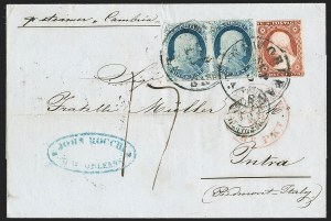 Sale Number 1230, Lot Number 1216, 1851-56 and 1857-60 Issues Covers1c Blue, Ty. IV, 3c Dull Red, Ty. II (9, 11A), 1c Blue, Ty. IV, 3c Dull Red, Ty. II (9, 11A)