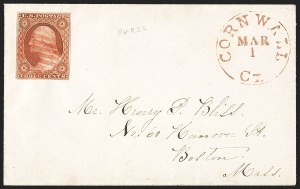 Sale Number 1230, Lot Number 1217, 1851-56 and 1857-60 Issues Covers3c Orange Brown, Ty. II (10A), 3c Orange Brown, Ty. II (10A)