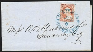 Sale Number 1230, Lot Number 1221, 1851-56 and 1857-60 Issues Covers3c Dull Red, Ty. II (11A), 3c Dull Red, Ty. II (11A)