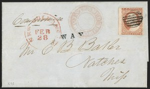 Sale Number 1230, Lot Number 1222, 1851-56 and 1857-60 Issues Covers3c Dull Red, Ty. II (11A), 3c Dull Red, Ty. II (11A)
