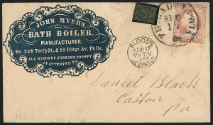 Sale Number 1230, Lot Number 1225, 1851-56 and 1857-60 Issues Covers3c Dull Red, Ty. II (11A), 3c Dull Red, Ty. II (11A)
