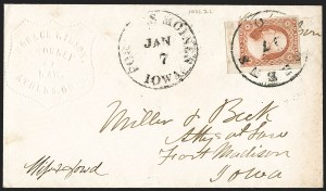 Sale Number 1230, Lot Number 1226, 1851-56 and 1857-60 Issues Covers3c Dull Red, Ty. II (11A), 3c Dull Red, Ty. II (11A)