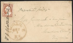 Sale Number 1230, Lot Number 1227, 1851-56 and 1857-60 Issues Covers3c Dull Red, Ty. II (11A), 3c Dull Red, Ty. II (11A)