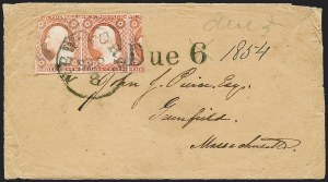 Sale Number 1230, Lot Number 1228, 1851-56 and 1857-60 Issues Covers3c Rose Red (11), 3c Rose Red (11)