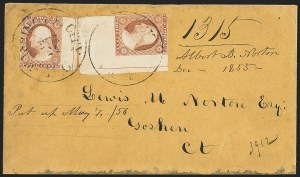 Sale Number 1230, Lot Number 1229, 1851-56 and 1857-60 Issues Covers3c Dull Red, Ty. II (11A), 3c Dull Red, Ty. II (11A)