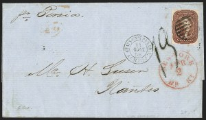 Sale Number 1230, Lot Number 1235, 1851-56 and 1857-60 Issues Covers5c Red Brown (12), 5c Red Brown (12)