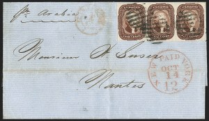 Sale Number 1230, Lot Number 1238, 1851-56 and 1857-60 Issues Covers5c Red Brown (12), 5c Red Brown (12)