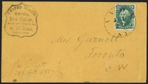 Sale Number 1230, Lot Number 1239, 1851-56 and 1857-60 Issues Covers10c Green, Ty. II (14), 10c Green, Ty. II (14)