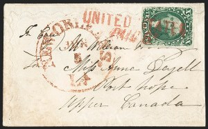 Sale Number 1230, Lot Number 1240, 1851-56 and 1857-60 Issues Covers10c Green, Ty. II (14), 10c Green, Ty. II (14)
