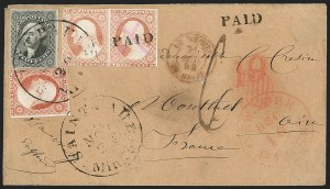 Sale Number 1230, Lot Number 1242, 1851-56 and 1857-60 Issues Covers12c Black (17), 12c Black (17)