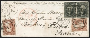 Sale Number 1230, Lot Number 1243, 1851-56 and 1857-60 Issues Covers12c Black (17), 12c Black (17)