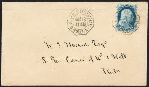 Sale Number 1230, Lot Number 1245, 1851-56 and 1857-60 Issues Covers1c Blue, Ty. IIIa (22), 1c Blue, Ty. IIIa (22)