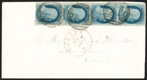 Sale Number 1230, Lot Number 1246, 1851-56 and 1857-60 Issues Covers1c Blue, Ty. V (24), 1c Blue, Ty. V (24)