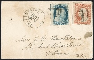 Sale Number 1230, Lot Number 1247, 1851-56 and 1857-60 Issues Covers1c Blue, Ty. V (24), 1c Blue, Ty. V (24)