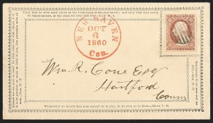Sale Number 1230, Lot Number 1248, 1851-56 and 1857-60 Issues Covers3c Dull Red, Ty. III (26), 3c Dull Red, Ty. III (26)