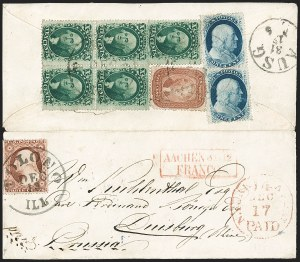 Sale Number 1230, Lot Number 1250, 1851-56 and 1857-60 Issues Covers5c Brick Red (27), 5c Brick Red (27)