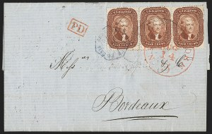 Sale Number 1230, Lot Number 1252, 1851-56 and 1857-60 Issues Covers5c Red Brown (28), 5c Red Brown (28)