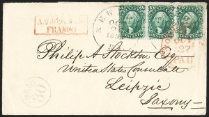 Sale Number 1230, Lot Number 1253, 1851-56 and 1857-60 Issues Covers10c Green, Ty. I (31), 10c Green, Ty. I (31)