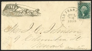 Sale Number 1230, Lot Number 1254, 1851-56 and 1857-60 Issues Covers10c Green, Ty. II (32), 10c Green, Ty. II (32)