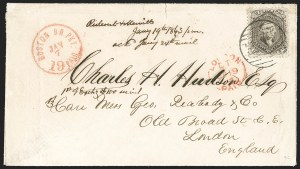 Sale Number 1230, Lot Number 1260, 1861-68 and 1869 Pictorial Issues Covers24c Brown Lilac (70a), 24c Brown Lilac (70a)