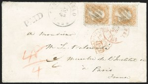 Sale Number 1230, Lot Number 1261, 1861-68 and 1869 Pictorial Issues Covers30c Orange (71), 30c Orange (71)