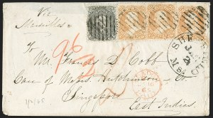 Sale Number 1230, Lot Number 1264, 1861-68 and 1869 Pictorial Issues Covers30c Orange, 24c Lilac (71, 78), 30c Orange, 24c Lilac (71, 78)