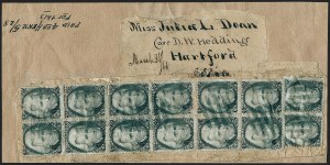 Sale Number 1230, Lot Number 1266, 1861-68 and 1869 Pictorial Issues Covers2c Black (73), 2c Black (73)