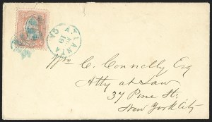 Sale Number 1230, Lot Number 1272, 1861-68 and 1869 Pictorial Issues Covers3c Rose, C. Grill (83), 3c Rose, C. Grill (83)