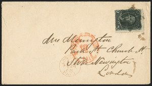 Sale Number 1230, Lot Number 1273, 1861-68 and 1869 Pictorial Issues Covers12c Black, Z. Grill (85E), 12c Black, Z. Grill (85E)