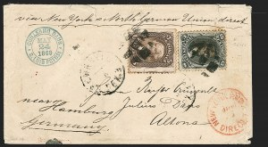 Sale Number 1230, Lot Number 1274, 1861-68 and 1869 Pictorial Issues Covers15c Black, E. Grill (91), 15c Black, E. Grill (91)
