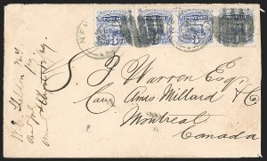 Sale Number 1230, Lot Number 1280, 1861-68 and 1869 Pictorial Issues Covers3c Ultramarine (114), 3c Ultramarine (114)