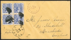 Sale Number 1230, Lot Number 1281, 1861-68 and 1869 Pictorial Issues Covers3c Ultramarine (114), 3c Ultramarine (114)