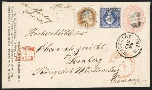 Sale Number 1230, Lot Number 1286, 1861-68 and 1869 Pictorial Issues Covers6c Ultramarine (115), 6c Ultramarine (115)