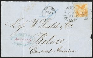 Sale Number 1230, Lot Number 1287, 1861-68 and 1869 Pictorial Issues Covers10c Yellow (116), 10c Yellow (116)
