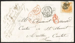 Sale Number 1230, Lot Number 1288, 1861-68 and 1869 Pictorial Issues Covers10c Yellow (116), 10c Yellow (116)
