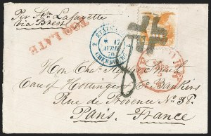 Sale Number 1230, Lot Number 1289, 1861-68 and 1869 Pictorial Issues Covers10c Yellow (116), 10c Yellow (116)