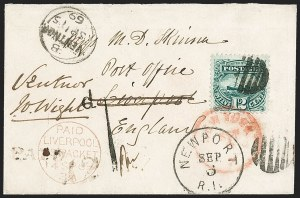 Sale Number 1230, Lot Number 1291, 1861-68 and 1869 Pictorial Issues Covers12c Green (117), 12c Green (117)