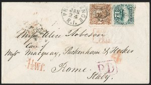 Sale Number 1230, Lot Number 1292, 1861-68 and 1869 Pictorial Issues Covers12c Green (117), 12c Green (117)